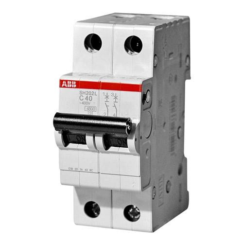 Выключатель автоматический двухполюсный 40А С SH202L 4.5кА (SH202L C40)